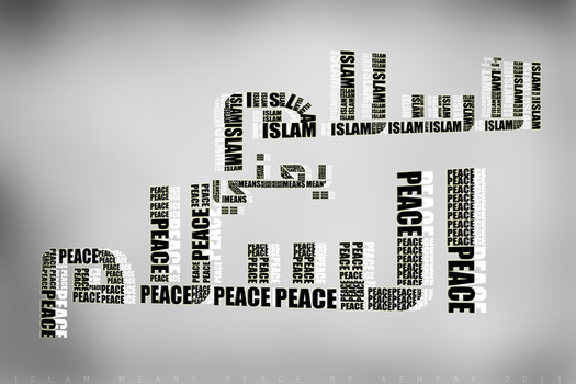 typography-Islam means peace by ASHRAF-GFX