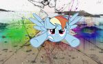 Dashie, your sonic rainboom broke my screen.. by c4-r