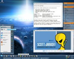 Yellow Alien Desktop by jark