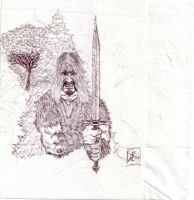 Barbarian of the napkin by danlewis4475
