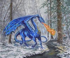 Dragon of the Northern Snows by ObsidianSerpent