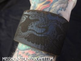 Etched tentacle cuffs by missmonster
