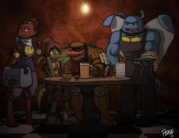 Archie TMNT-Blind Date FAIL by Tigerfog