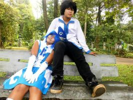 Gray fullbuster and juvia cosplay tenrou team by TenrouTeam