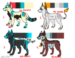 Adoptables Batch by T0SHII