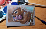 ACEO for Irsibil - Squirrel by Crateris
