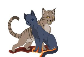 Thistleclaw and Bluefur by Addictivemind