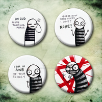 'I Hate You' Buttonset by princevansii