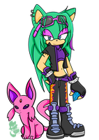 .:PC:. Sonic X- Rain and Espeon by elisonic12