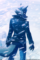 Wolf O'Donnell In the storm by VivianWolf18