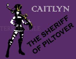 Caitlyn stencil by terrorsmile
