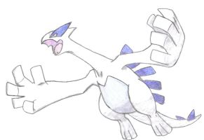 lugia hand-drawn by aaronio999
