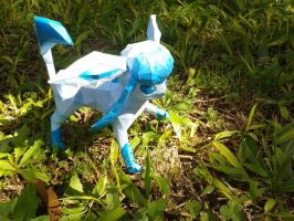 A wild Glaceon appears! by Vickawaii