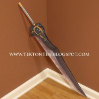 KH2 Auron Sword Papercraft by Tektonten
