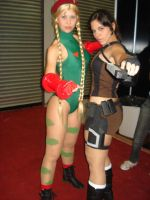 Lara Croft and Cammy by Jessie-TR