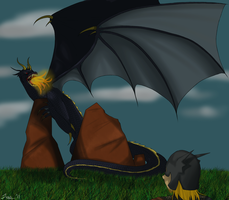 Beowulf Project - Battle with the Dragon by XxShArPeSt-LiVeSxX