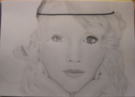 Drawing Taylor Swift - WIP 1 by Monique-Art