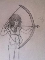 Bow and Arrow girl by Lemonthrower