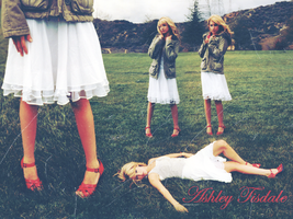 Ashley Tisdale Wallpaper by vintagevic