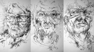 Self Portrait - Series with Ink by b3ngi