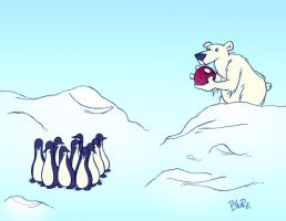 polar bear vacation by Bob-Rz
