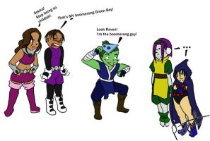 Beast Boy - the boomerang guy by LadyProphet