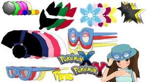 MMD Pokemon XY Hat Pins DL by 2234083174