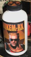 Duke nukem steroid bottle by emptysamurai