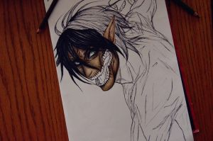 in progress eren 2 by DoreiShounen