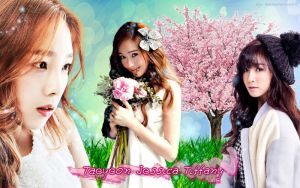 Wall Taeyeon,Jessica Tiffany by RainboWxMikA