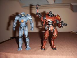 Gipsy Danger and Crimson Typhoon by BrigadierDarman