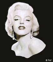 Marilyn Monroe by Super-pa-ta-p0uf