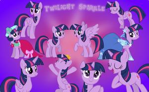 Friendship is Magic - Twilight Sparkle collection by Pilot231