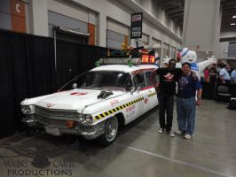 Me And Ernie Hudson Next To Ecto-1A by OtakuDude83