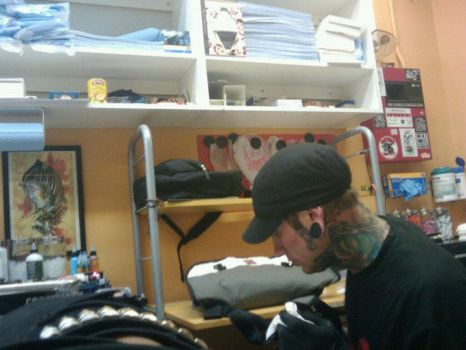 my awesome tattoo artist by Lilith-Hellfire
