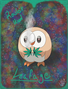 Rowlet Used Leafage by UnionElite