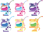 Mane 6 coffeebot flavors by The1stMoyatia