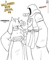 Ragnarok and Toriel _ Halloween special #2 by wsache2020