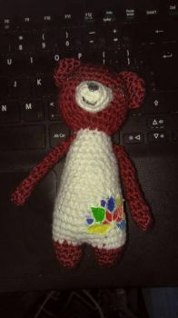 tiny tall bear  by TehKnittyKitty