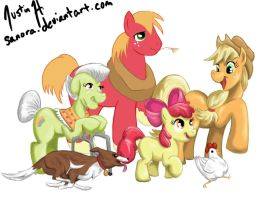 Apple Family WIP 3 by sanora