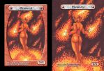 Custom Magic Token #4 - Fire Elemental by destinyhelix