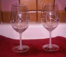 wine glass engraving by Lyz7822