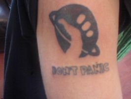 Hitch hikers guide tattoo by AmyLou31