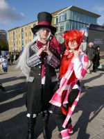 Mad Hatter and Cheshire Cat MCM Oct '12 by KaniKaniza
