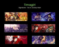 D.Gray-Man Signature Vol.4 by Timagirl