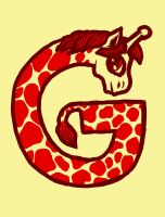 G is for Giraffe by biotwist