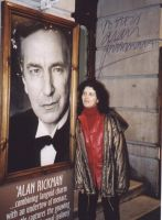 Signed photo by Alan Rickman by JanuaryGuest