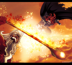 Fairy Tail 521: August vs Gildarts by IIYametaII
