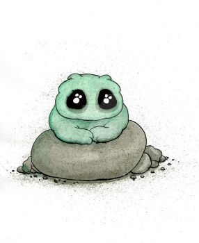 Cute green Thing Illustration by JSSanner