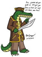 Crocodile Pirate by Ross-Sanger